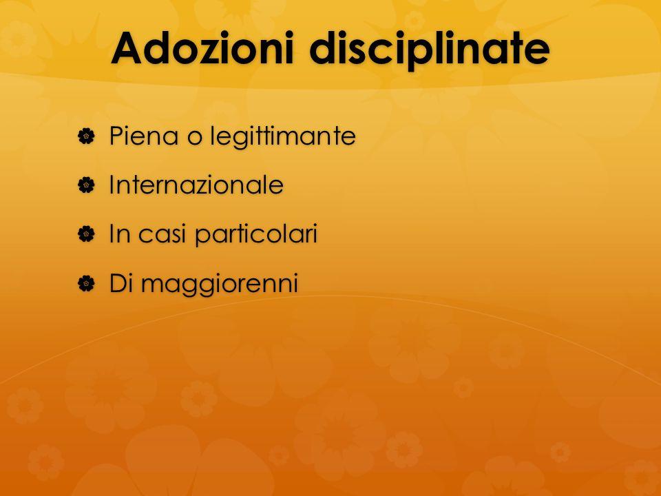 Adozioni disciplinate