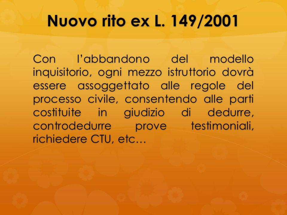 Nuovo rito ex L. 149/2001