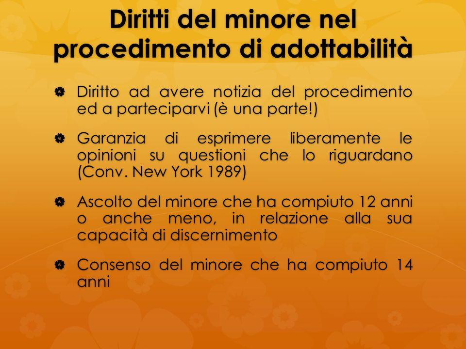 Diritti del minore nel procedimento di adottabilità