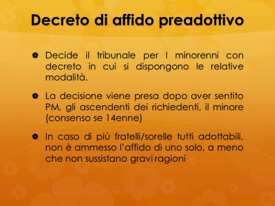 Decreto di affido preadottivo