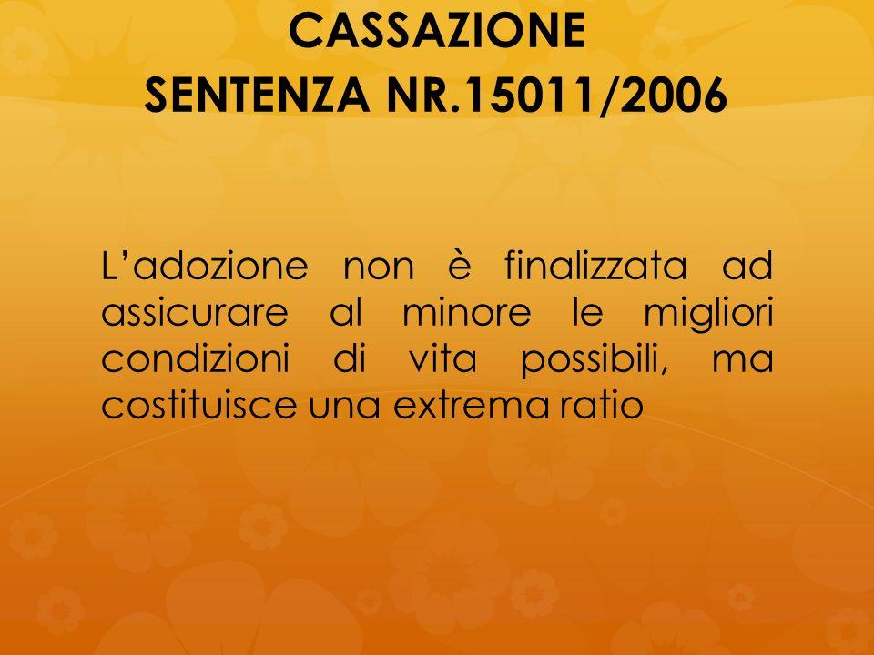 CASSAZIONE SENTENZA NR.15011/2006