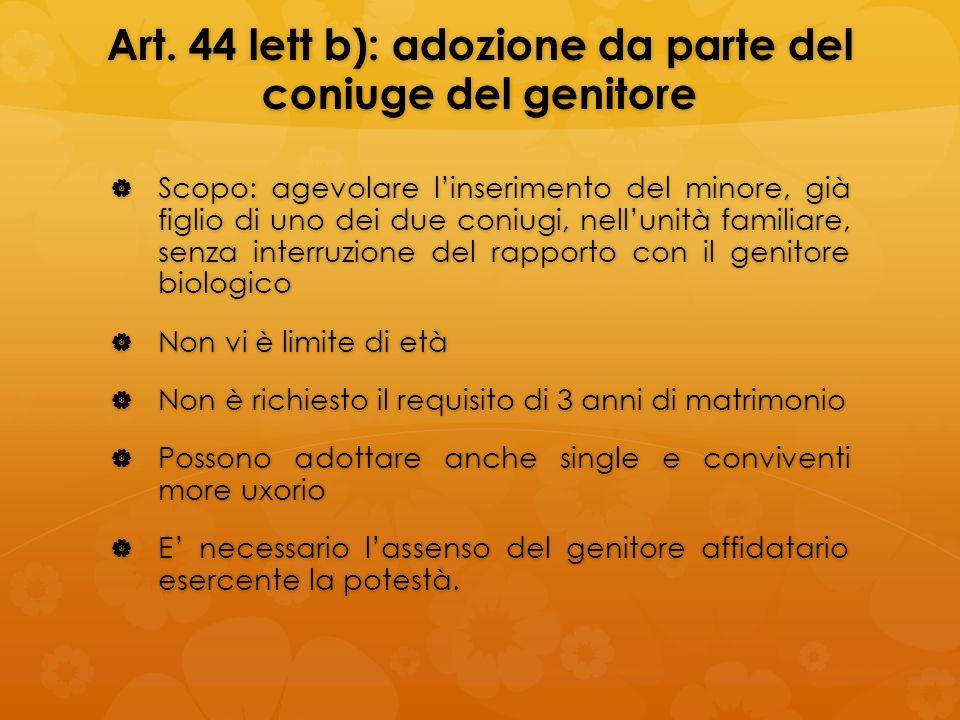 Art. 44 lett b): adozione da parte del coniuge del genitore