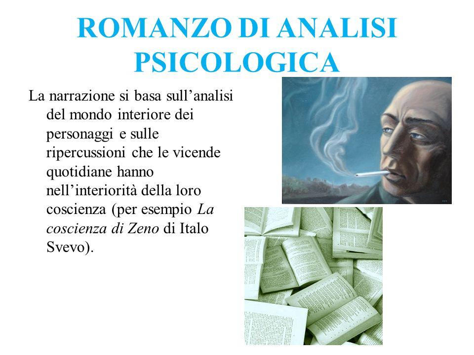 ROMANZO DI ANALISI PSICOLOGICA
