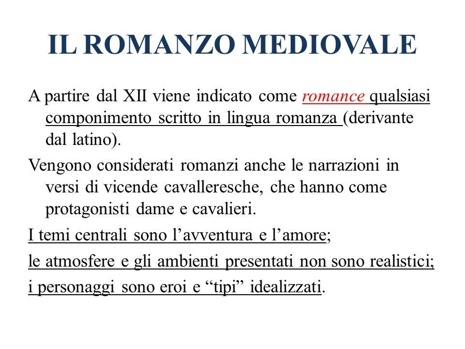 IL ROMANZO MEDIOVALE