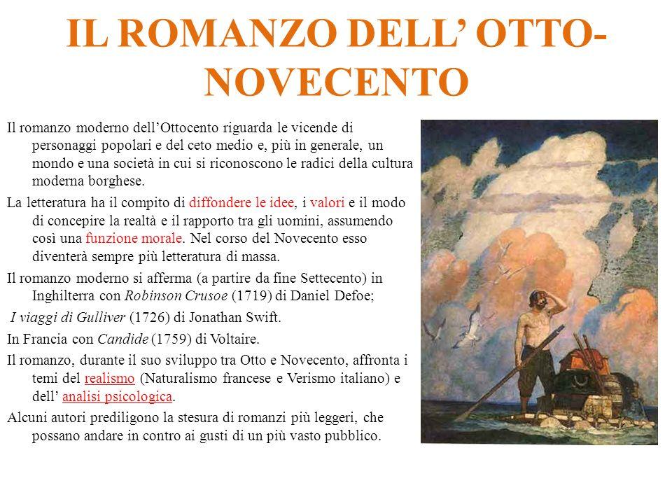 IL ROMANZO DELL' OTTO-NOVECENTO