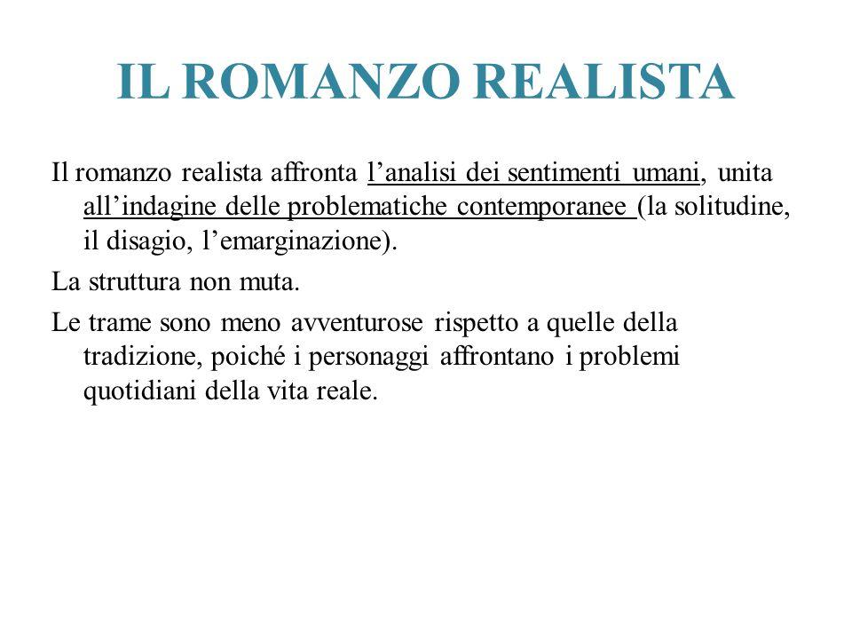 IL ROMANZO REALISTA