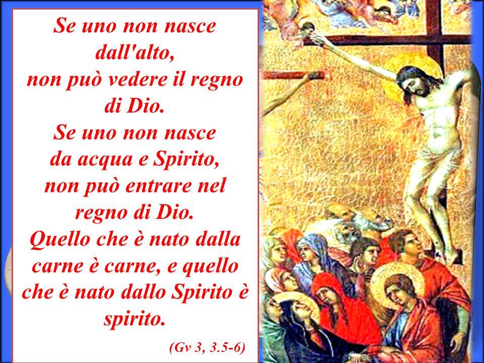Se uno non nasce dall alto, non può vedere il regno di Dio.