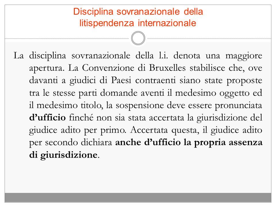 Disciplina sovranazionale della litispendenza internazionale