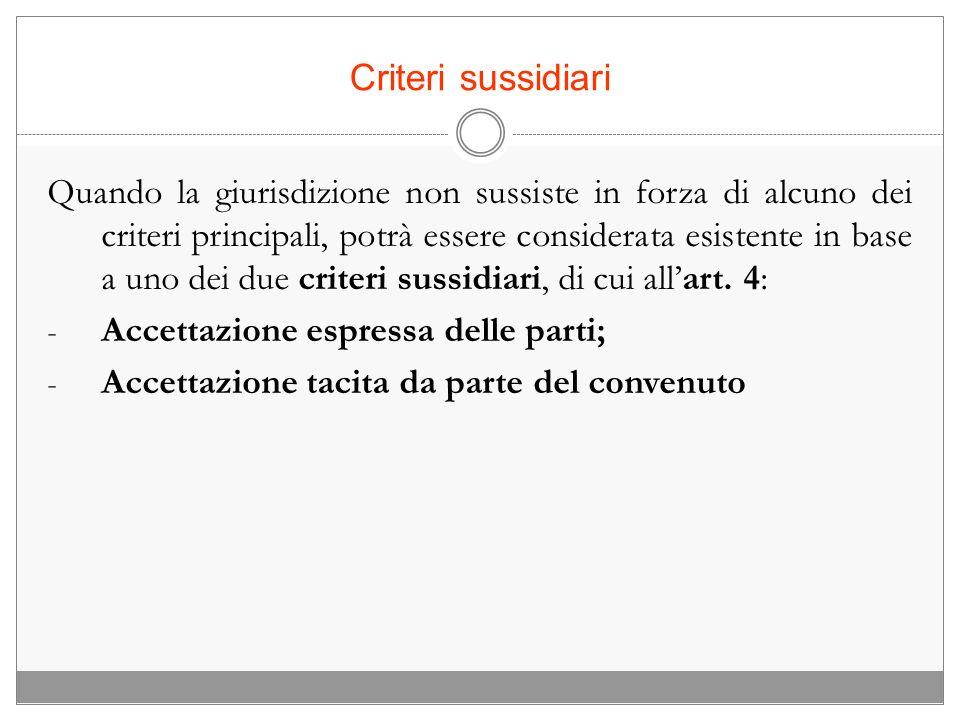 Criteri sussidiari