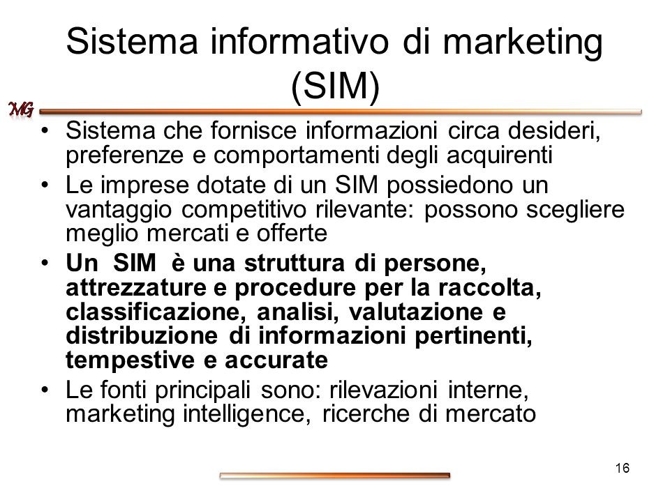 Sistema informativo di marketing (SIM)