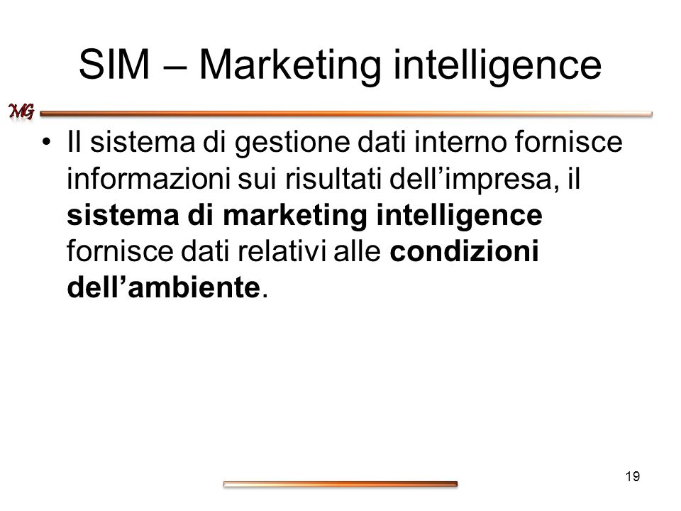 SIM – Marketing intelligence