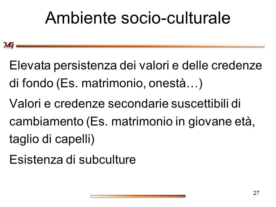 Ambiente socio-culturale