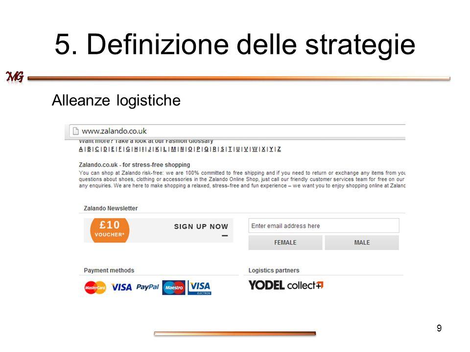5. Definizione delle strategie