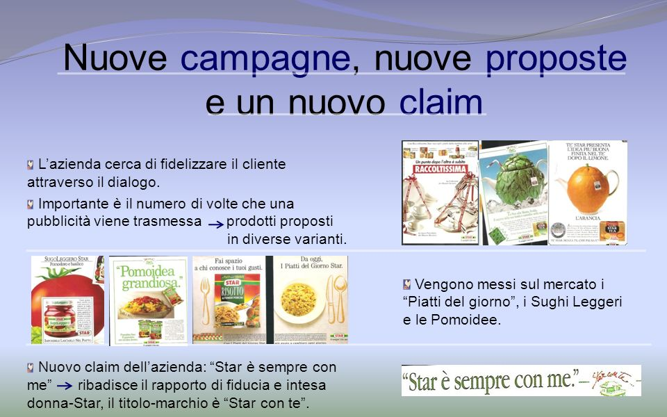 Nuove campagne, nuove proposte e un nuovo claim