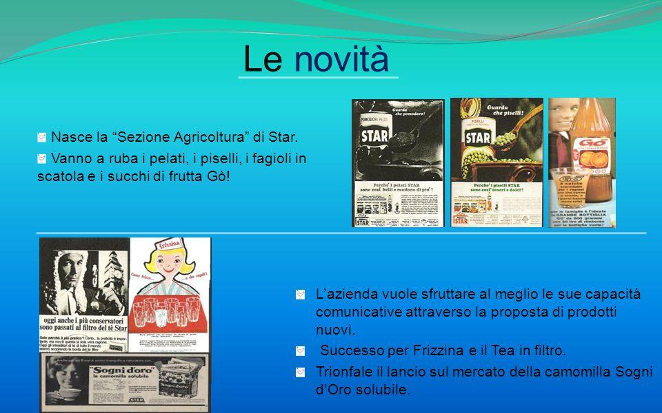 Le novità Nasce la Sezione Agricoltura di Star.