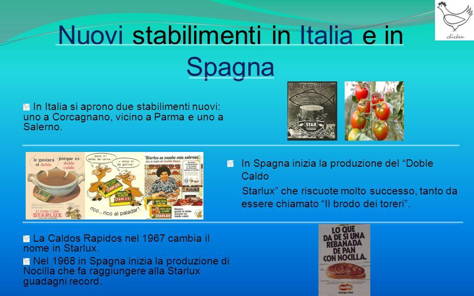 Nuovi stabilimenti in Italia e in Spagna