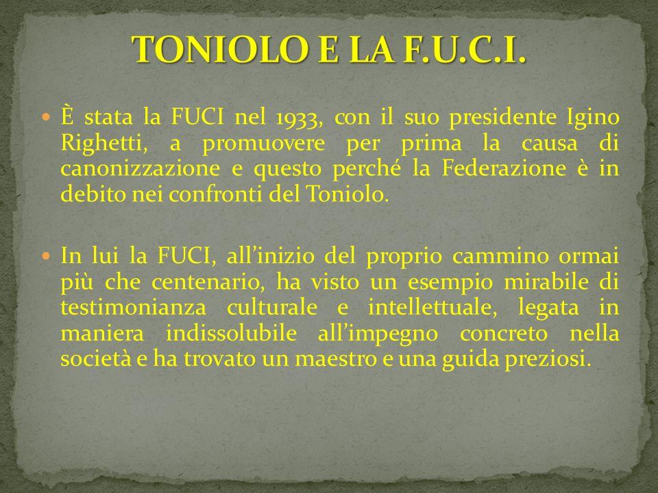 TONIOLO E LA F.U.C.I.