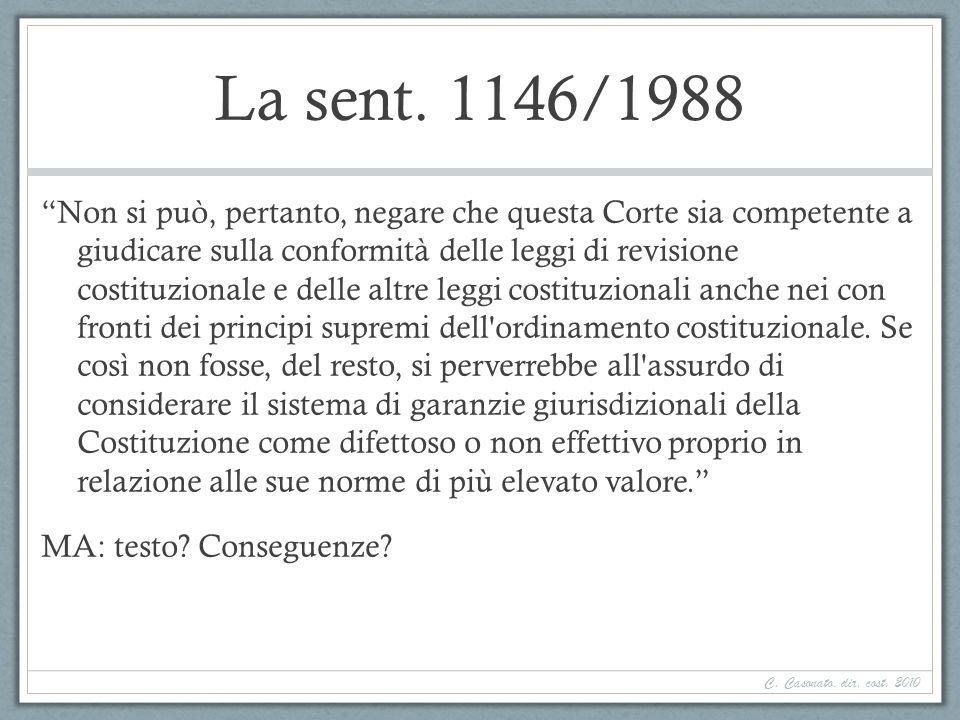 La sent. 1146/1988