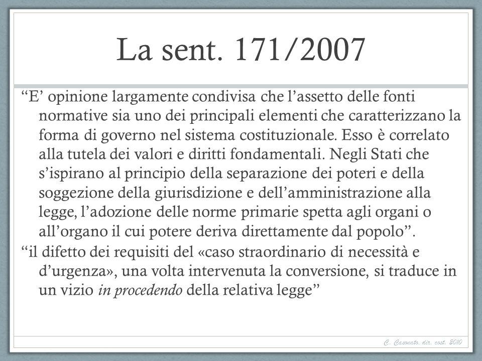 La sent. 171/2007
