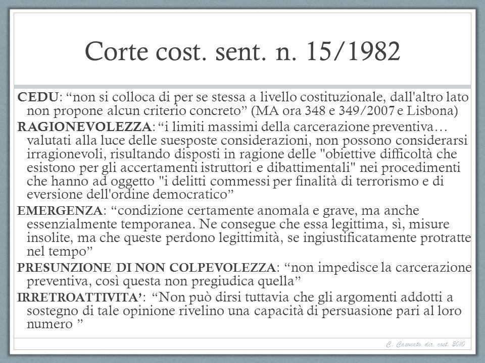 Corte cost. sent. n. 15/1982