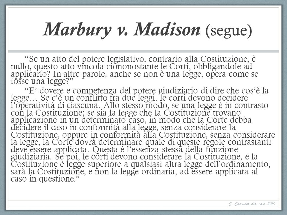 Marbury v. Madison (segue)