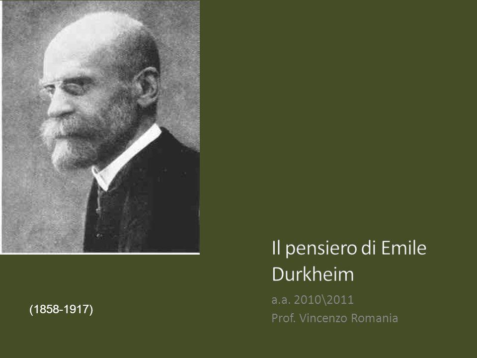 Il pensiero di Emile Durkheim