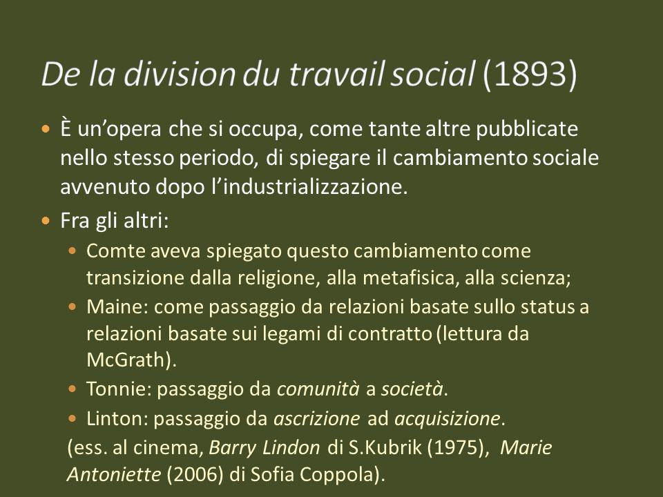 De la division du travail social (1893)