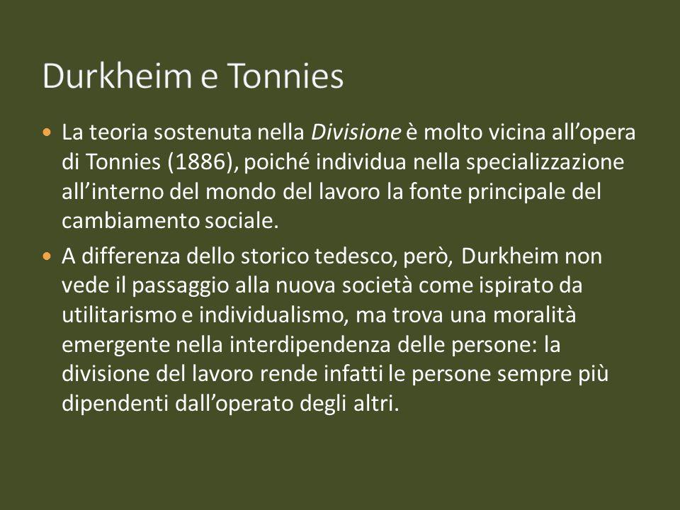 Durkheim e Tonnies