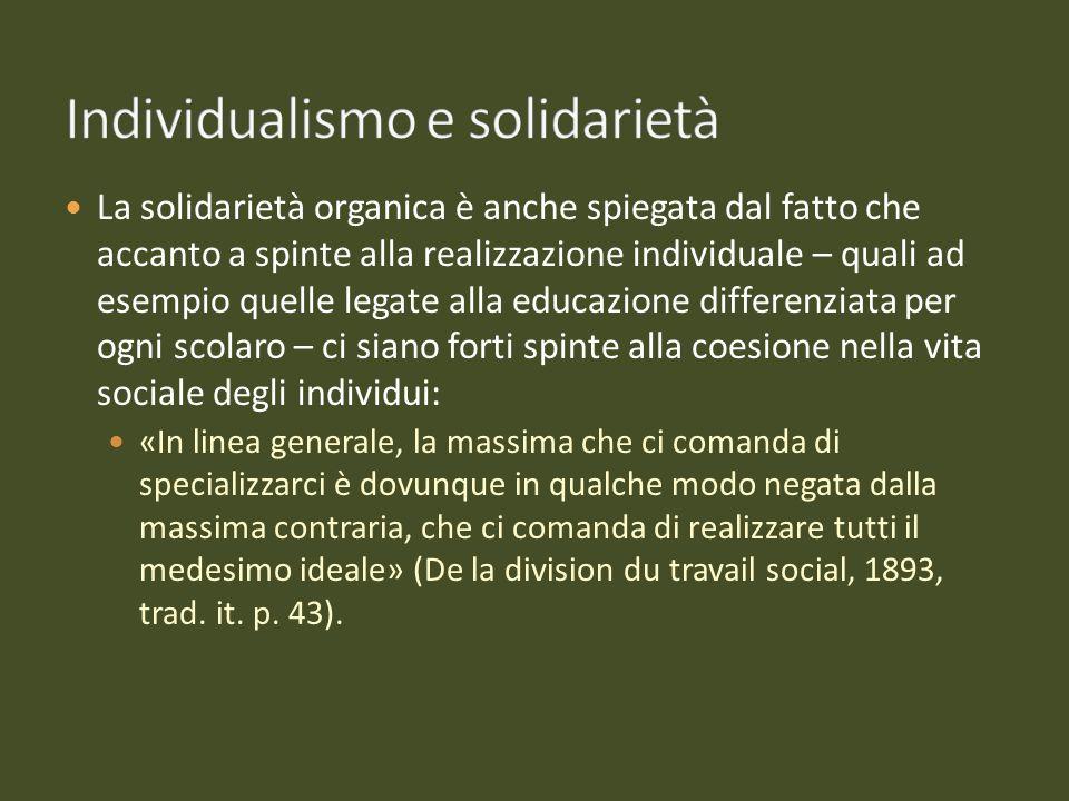 Individualismo e solidarietà