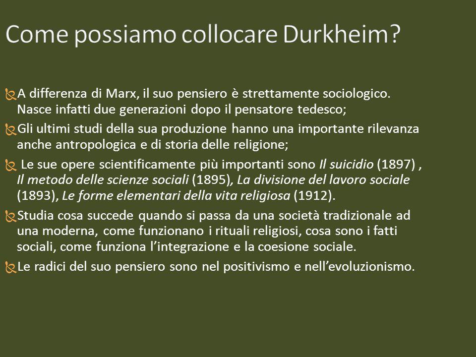 Come possiamo collocare Durkheim