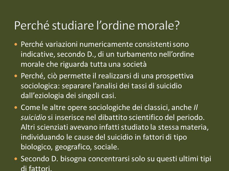 Perché studiare l'ordine morale