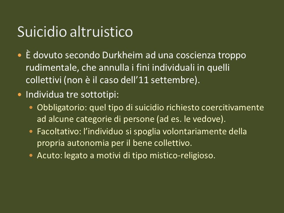 Suicidio altruistico