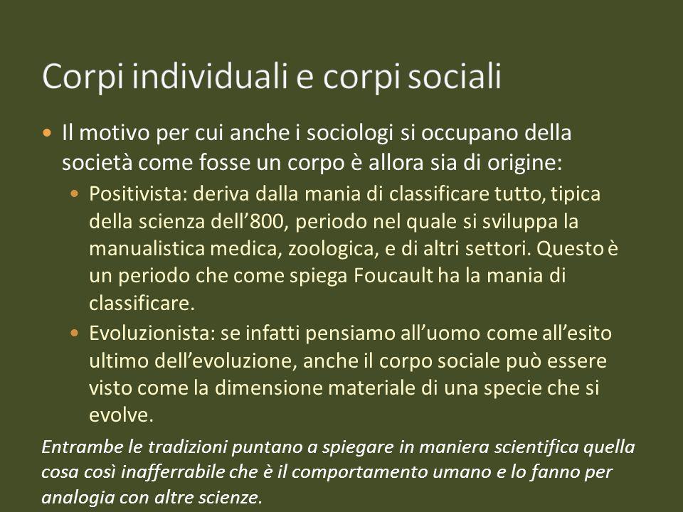 Corpi individuali e corpi sociali