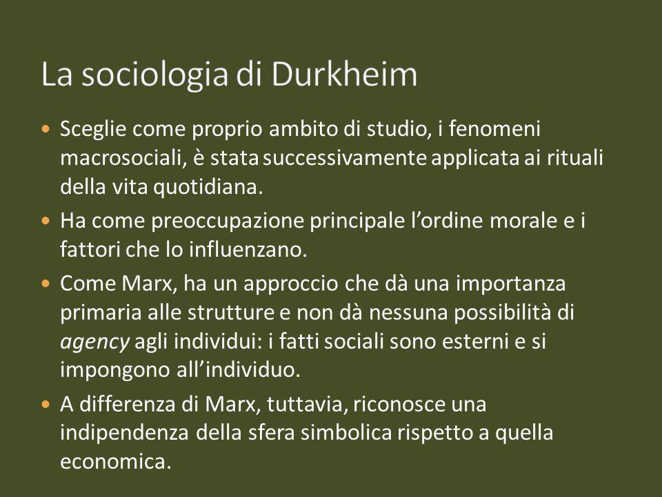 La sociologia di Durkheim
