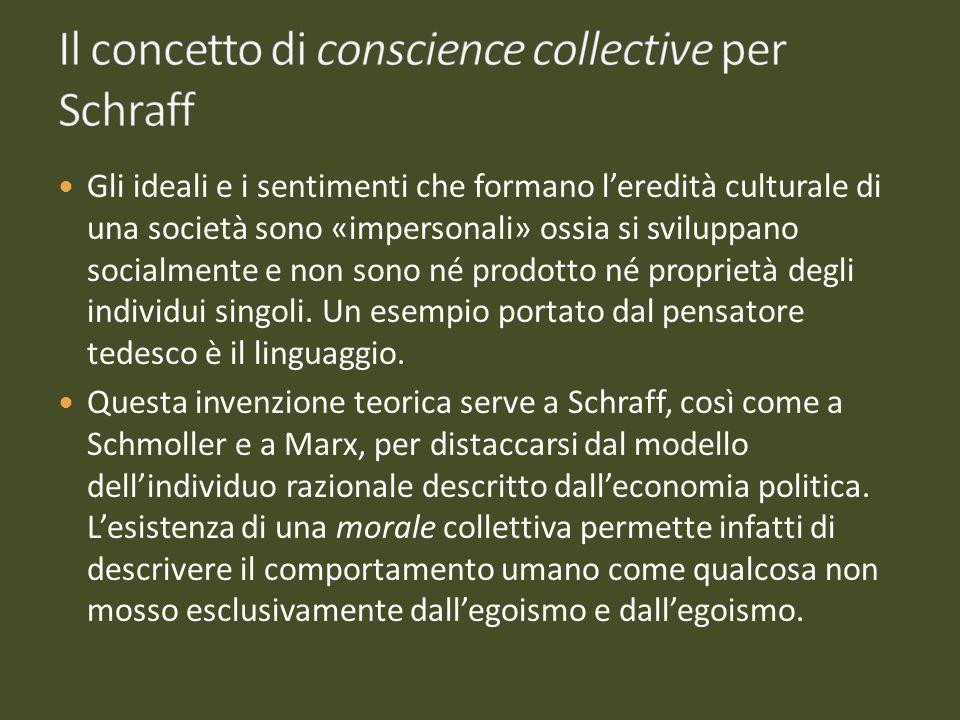 Il concetto di conscience collective per Schraff