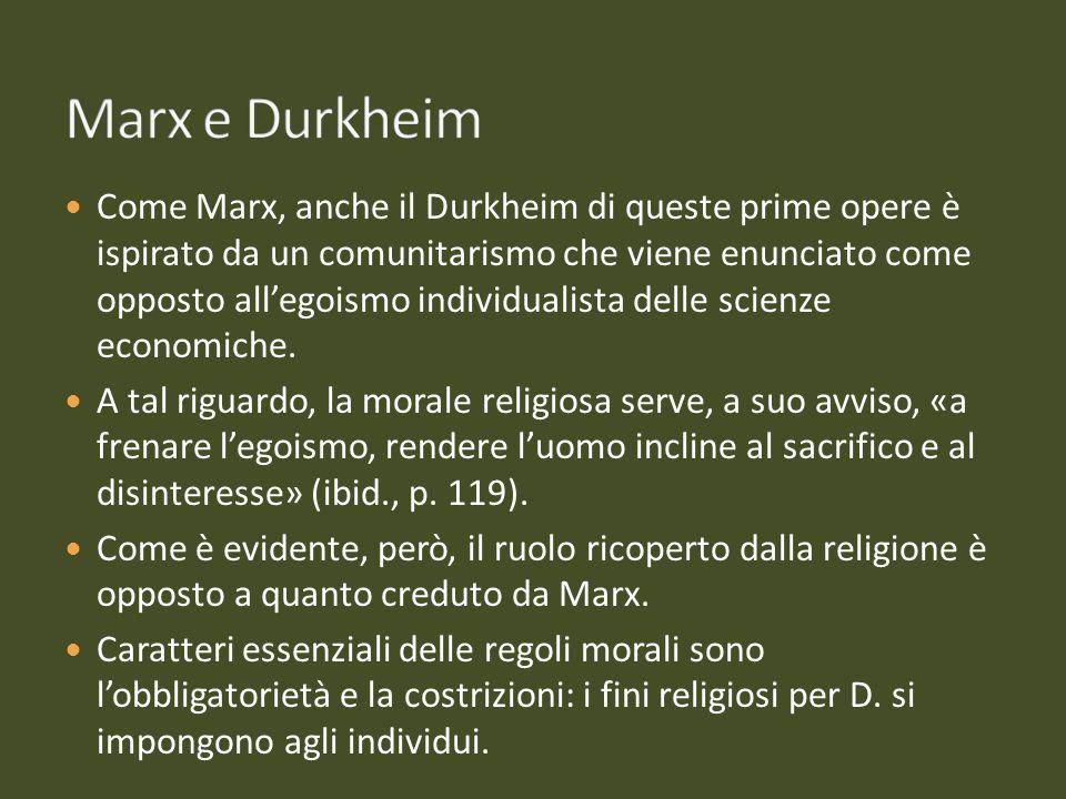 Marx e Durkheim