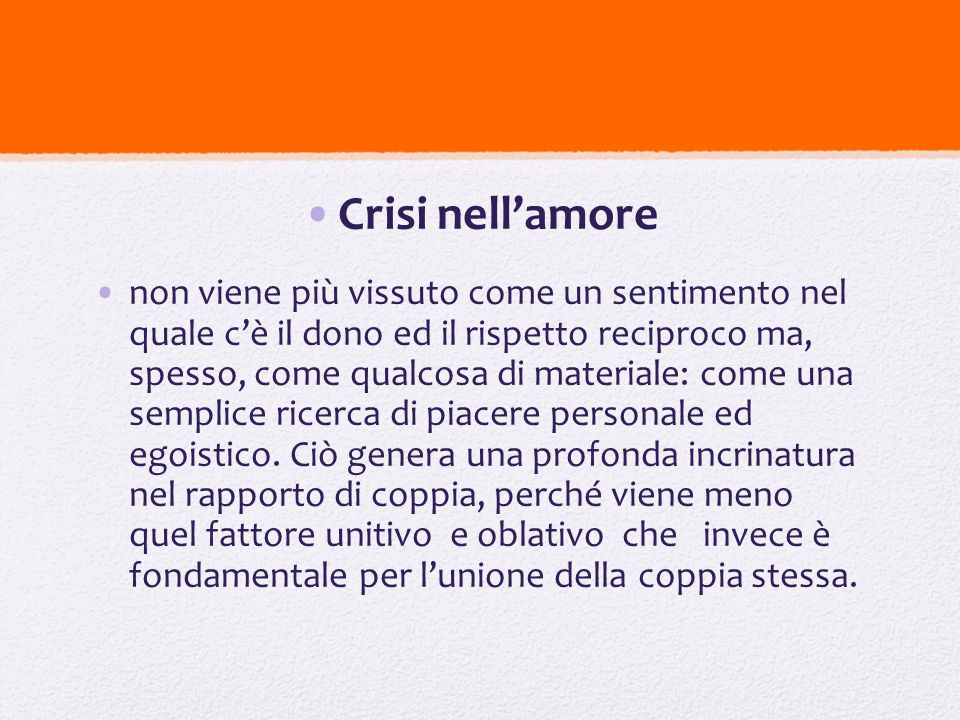 Crisi nell'amore