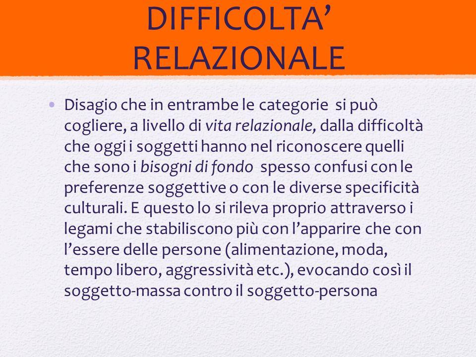 DIFFICOLTA' RELAZIONALE