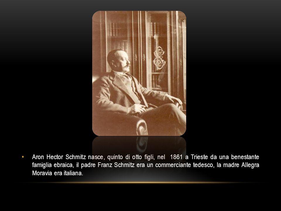 Aron Hector Schmitz nasce, quinto di otto figli, nel 1861 a Trieste da una benestante famiglia ebraica, il padre Franz Schmitz era un commerciante tedesco, la madre Allegra Moravia era italiana.