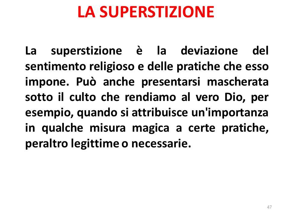 LA SUPERSTIZIONE