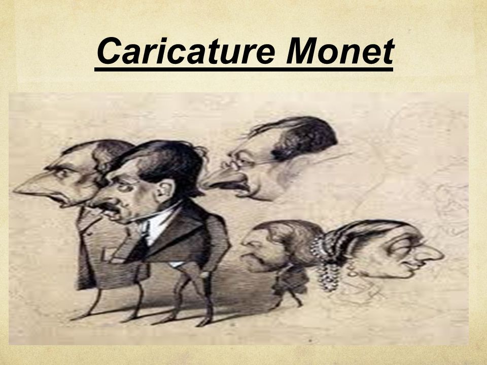 Caricature Monet