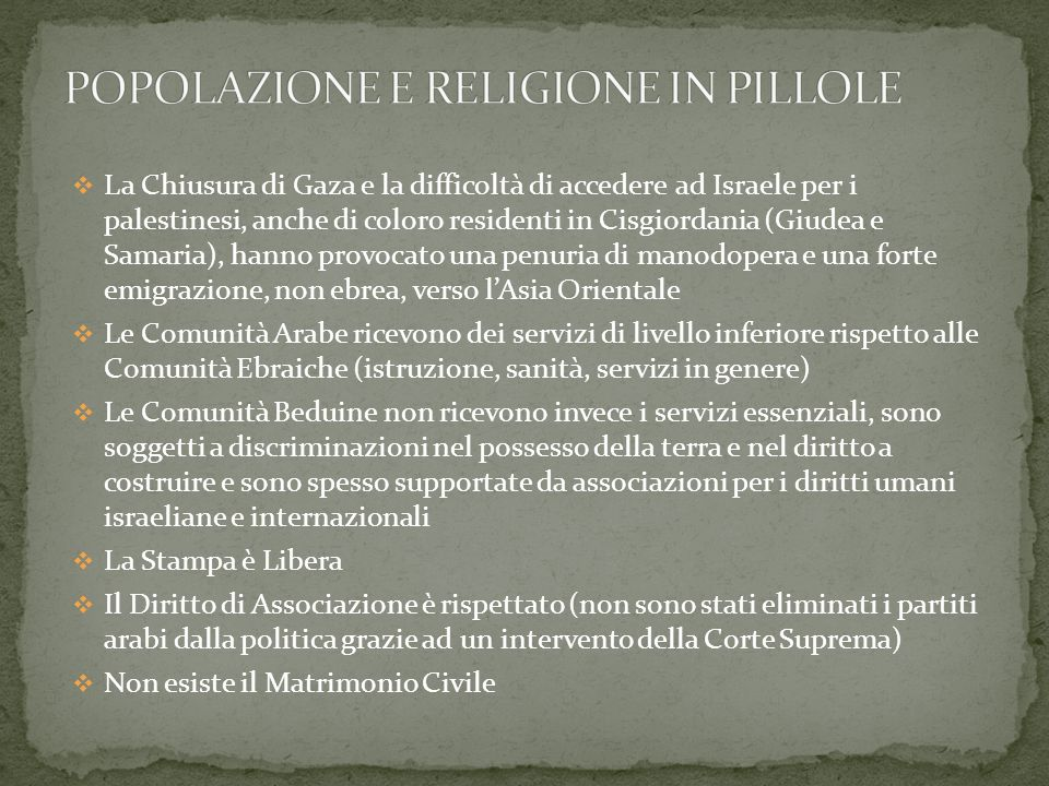 POPOLAZIONE E RELIGIONE IN PILLOLE