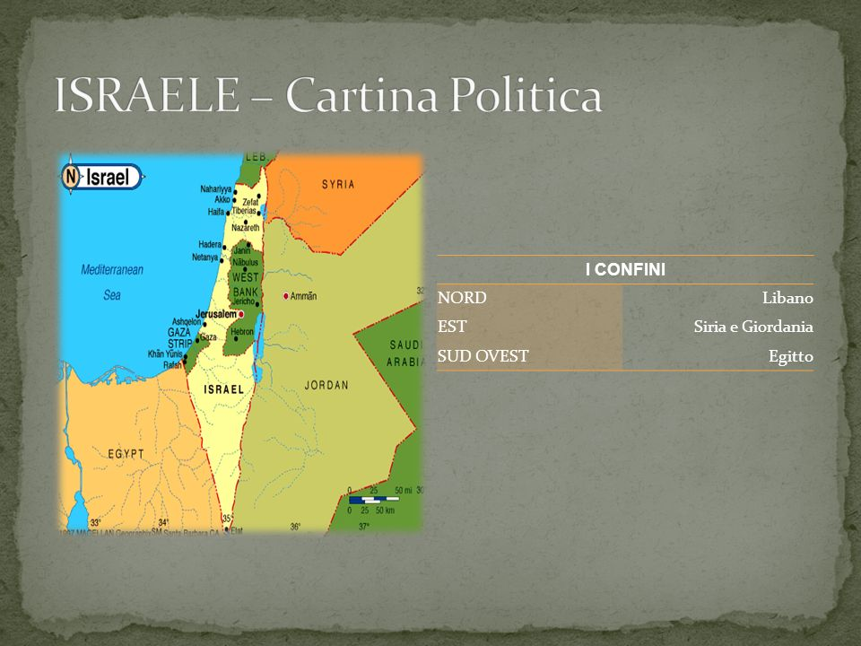 ISRAELE – Cartina Politica