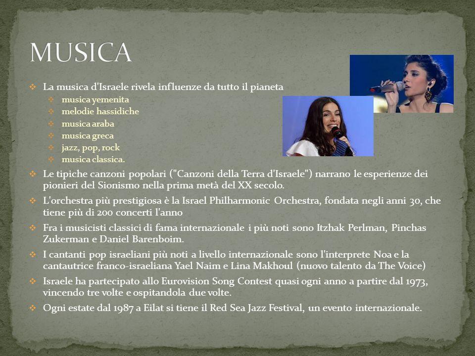 MUSICA La musica d Israele rivela influenze da tutto il pianeta