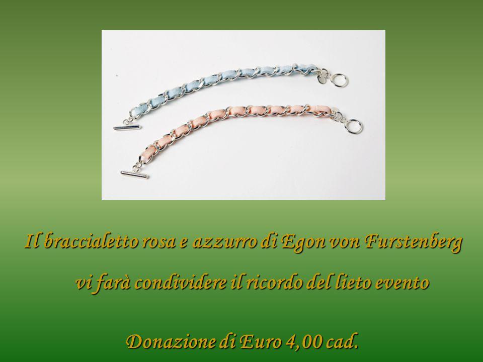 Il braccialetto rosa e azzurro di Egon von Furstenberg vi farà condividere il ricordo del lieto evento