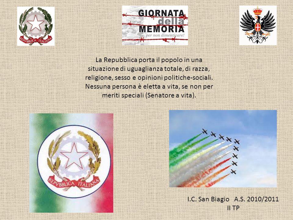 La Repubblica porta il popolo in una situazione di uguaglianza totale, di razza, religione, sesso e opinioni politiche-sociali.