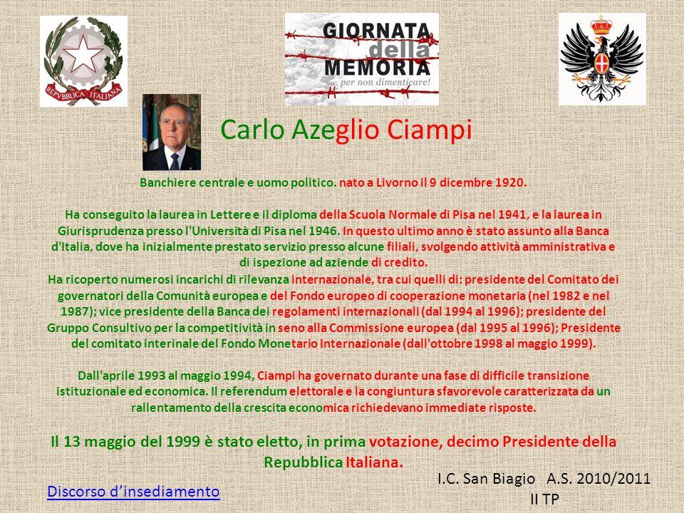 Banchiere centrale e uomo politico. nato a Livorno il 9 dicembre 1920.
