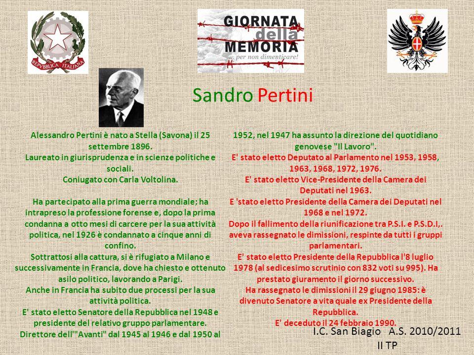 Sandro Pertini I.C. San Biagio A.S. 2010/2011 II TP