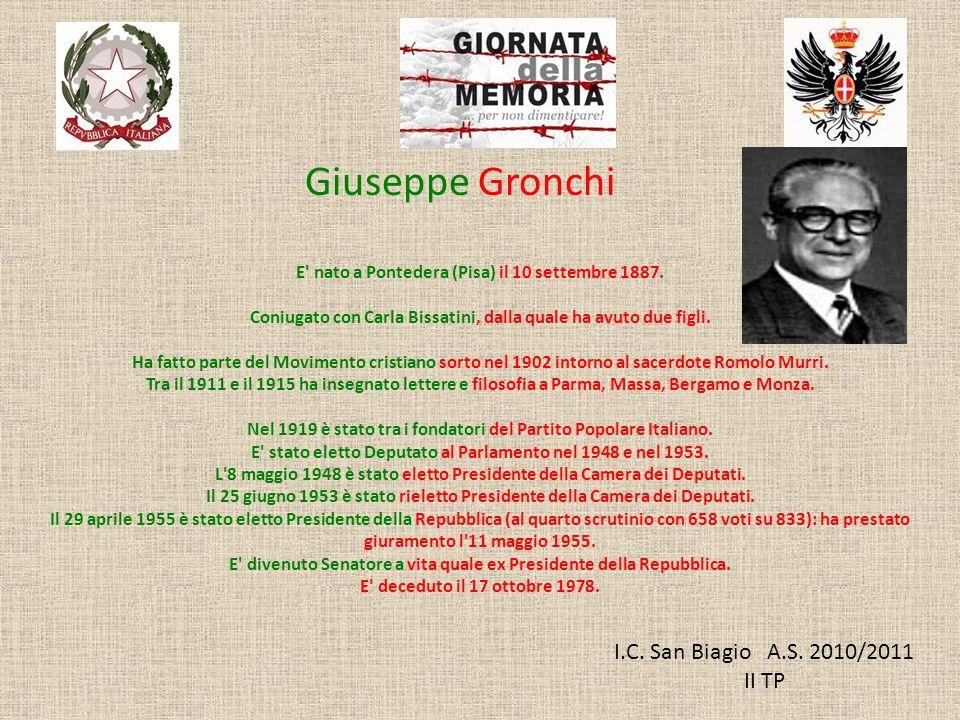 Giuseppe Gronchi I.C. San Biagio A.S. 2010/2011 II TP