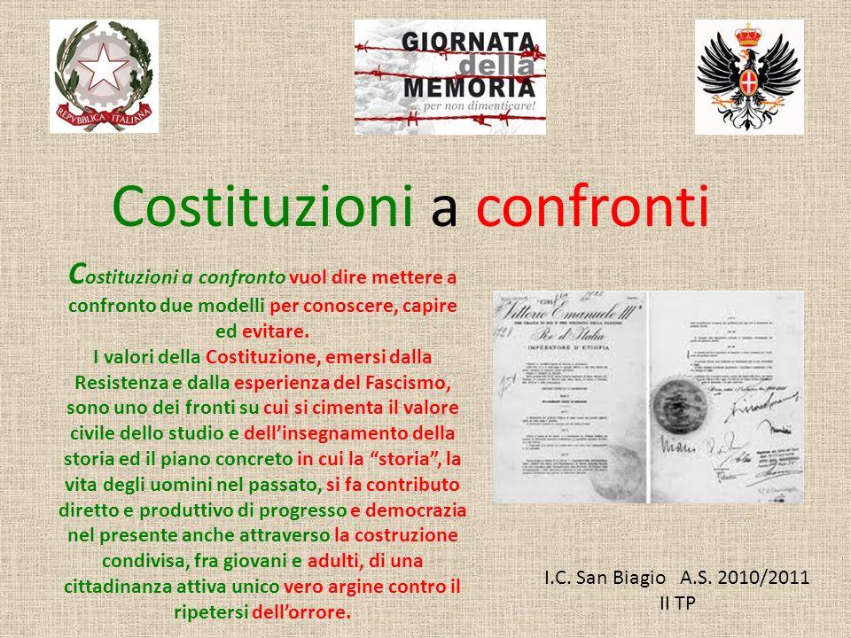 Costituzioni a confronti